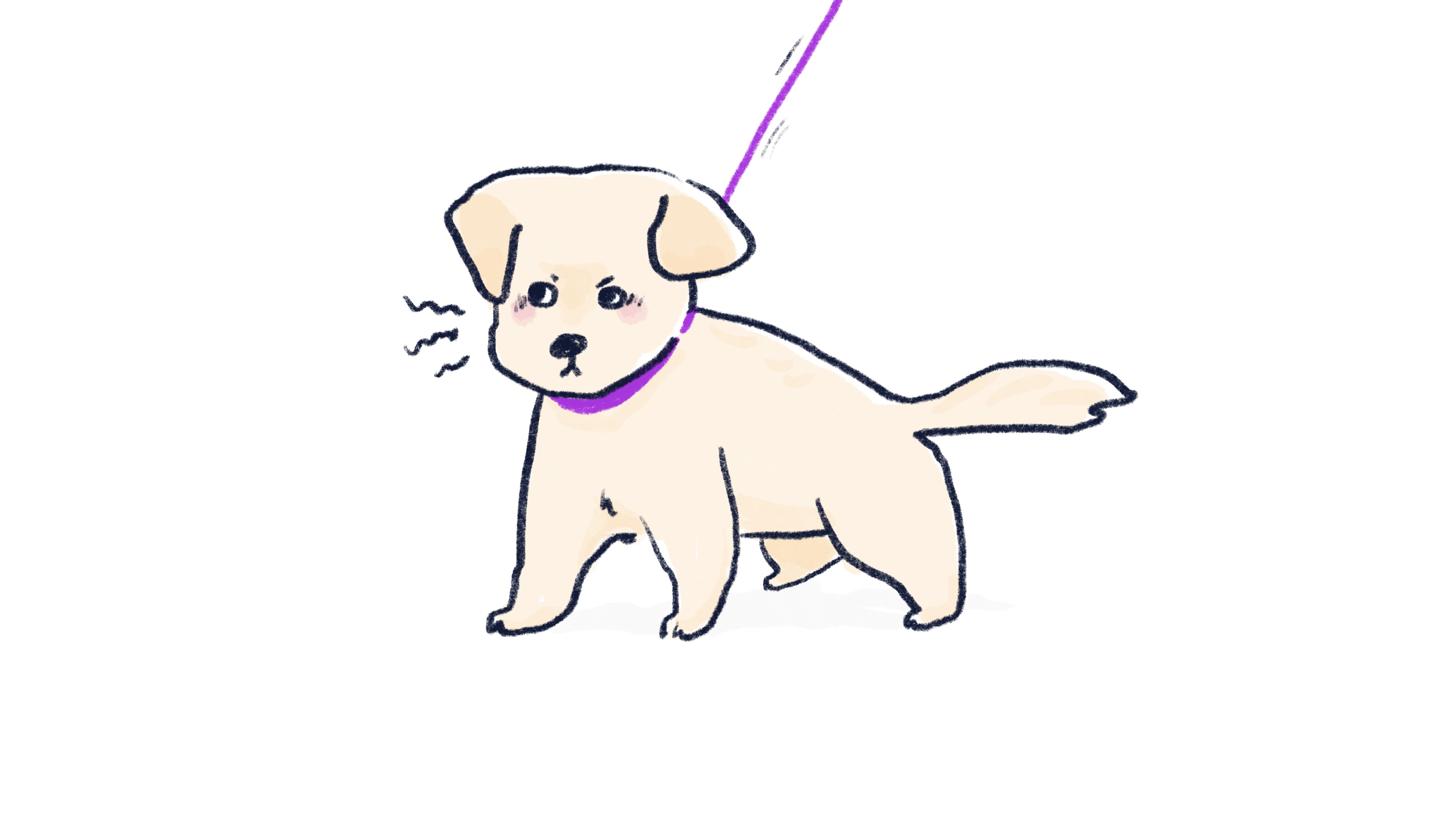 狗狗準備要吠叫的插圖